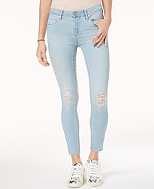 Articles of Society Carly Skinny Crop Ripped Jeans