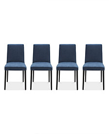 Gatlin Dining Chairs, 4-Pc. Set (4 Blue Dining Chairs), Created for Macy's