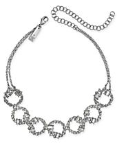 """I.N.C. Silver-Tone Crystal Link Choker Necklace, 11"""" + 4"""" extender, Created for Macy's"""