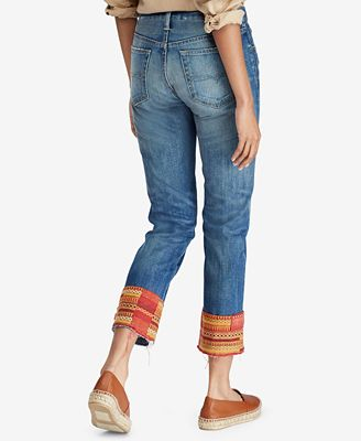 The Waverly embroidered crop jeans