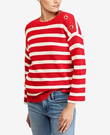 Lauren Ralph Lauren Striped Cotton Sweater