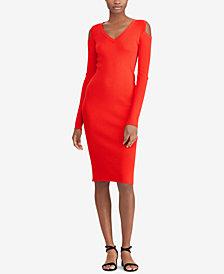 Lauren Ralph Lauren Cold-Shoulder Slim Fit Dress