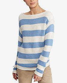 Lauren Ralph Lauren Petite Textured Cotton Sweater