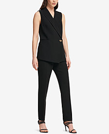 DKNY Asymmetrical One-Button Vest, Created for Macy's