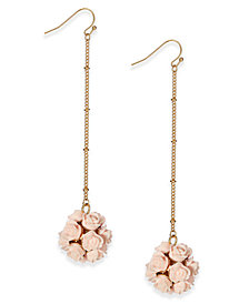 I.N.C. Carved Rose Ball Drop Earrings, Created for Macy's