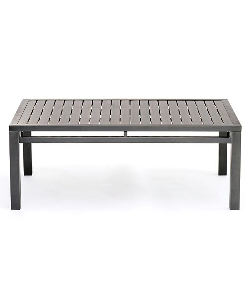 Furniture Marlough II Aluminum Outdoor Coffee Table Created For - Black aluminum outdoor coffee table