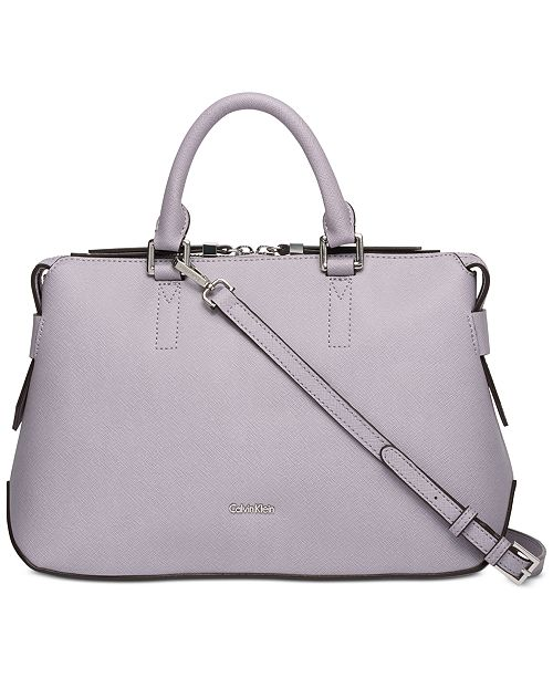 Product Details Calvin Klein S Maggie Leather Satchel