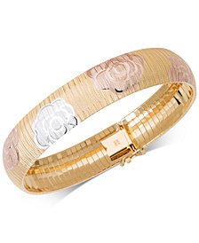 Giani Bernini Tri-Color Rosette Bracelet, Created for Macy's