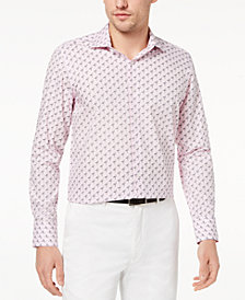 Tallia Men's Slim-Fit Flamingo-Print Dress Shirt