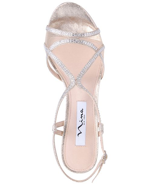 dae8ae94160a4 Nina Blossom Strappy Embellished Evening Sandals   Reviews - Sandals ...