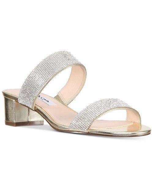 NINA Georgea Rhinestone-Encrusted Slide Sandals Women's Shoes 77Fe5bXhZ