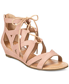 Esprit Chrissy Lace-Up Wedge Sandals