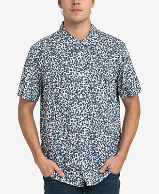 RVCA Men's Barrow Printed Button-Down Shirt - Casual Button-Down ...