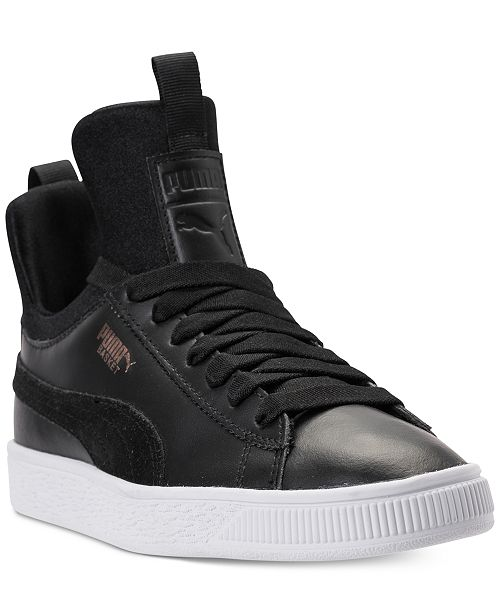 ed2c7b2c55a ... Puma Big Girls  Basket Fierce High Top Casual Sneakers from Finish ...