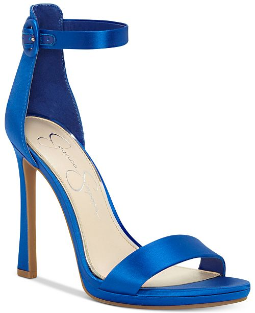 Jessica Simpson Plemy Satin Ankle Strap Dress Sandals oYSO3W