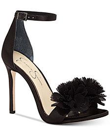 Jessica Simpson Jeena Flower Pom-Pom Sandals
