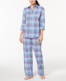 Lauren Ralph Lauren Catalina Classic Plaid Pajama Set