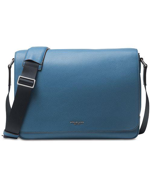 68d63af8e685 Michael Kors Men s Bryant Leather Messenger Bag   Reviews - All ...