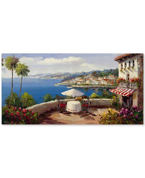 "Trademark Global Rio 'Italian Afternoon' Canvas Art - 47"" x 24"""