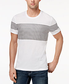 I.N.C. Men's Introspection Striped T-Shirt, Created for Macy's