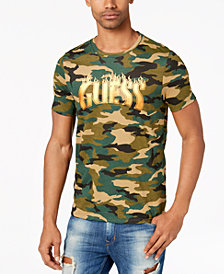 GUESS Men's Camo Graphic-Print T-Shirt