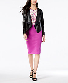 Thalia Sodi Faux-Leather Jacket, Halter Top & Pencil Skirt, Created for Macy's