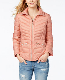 MICHAEL Michael Kors Hooded Packable Down Coat