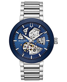 Bulova Men's Modern Stainless Steel Bracelet Watch 42mm