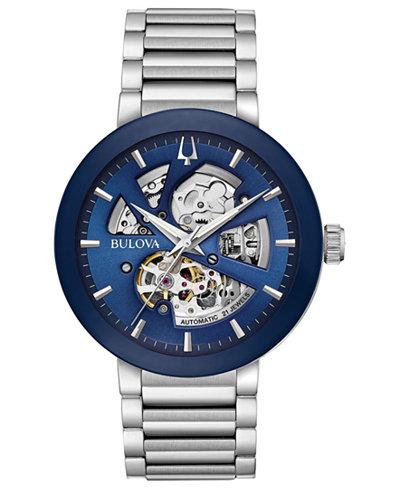 Bulova Men's Modern Stainless Steel Bracelet Watch 42mm