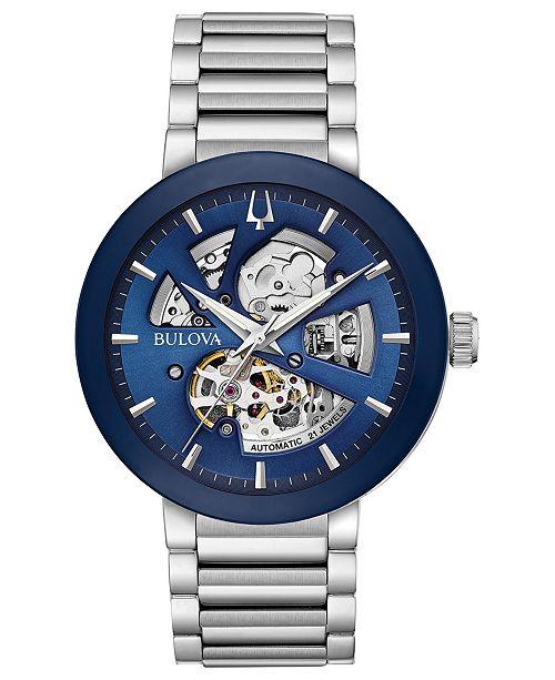 Bulova Men's Futuro Stainless Steel Bracelet Watch 42mm