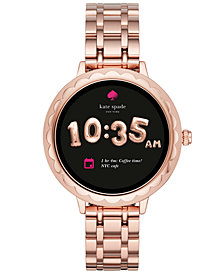 kate spade new york Women's Pink Stainless Steel Bracelet Touchscreen Smart Watch 42mm