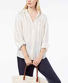 Weekend Max Mara Striped Linen Shirt