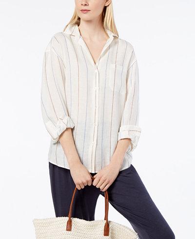 Weekend Max Mara Striped Linen Shirt