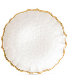 Vietri Pastel Glass Collection White Salad Plate