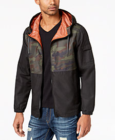 American Rag Men's Pattern-Blocked Windbreaker, Created for Macy's