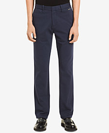 Calvin Klein Men's Knit Flat-Front Pants