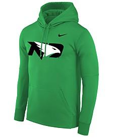 Nike Men's North Dakota Fighting Hawks Therma Logo Hoodie