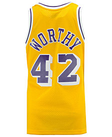 Mithcell & Ness Men's James Worthy Los Angeles Lakers Hardwood Classic Swingman Jersey
