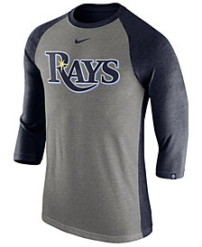 Nike Men's Tampa Bay Rays Tri-Blend Three-Quarter Raglan T-shirt