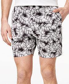 Michael Kors Men's Classic-Fit Palm-Print Poplin Shorts
