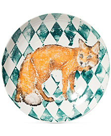 Vietri Into the Woods Collection Fox Large Bowl
