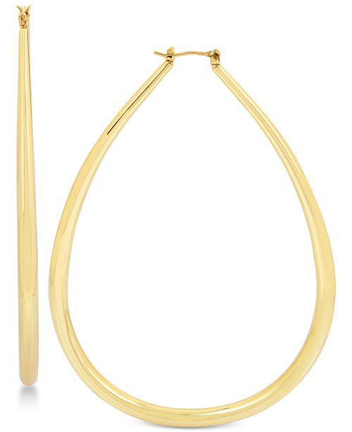 Teardrop Hoop Earrings In 14k Gold Plated Br 7 Reviews Main Image