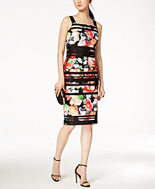 Adrianna Papell Floral-Print Bodycon Dress