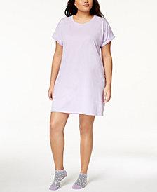 Jenni by Jennifer Moore Plus Size Graphic Sleepshirt & Socks, Created for Macy's