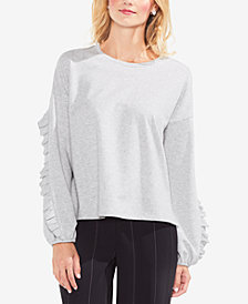 Vince Camuto Ruffled-Sleeve Sweater