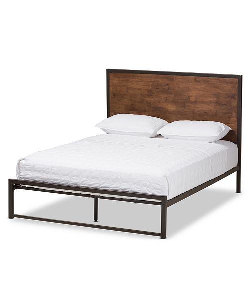 BLUSH & BRASS Delroi Queen Bed, Quick Ship