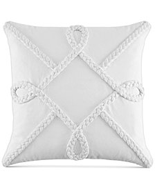 "Tommy Hilfiger Elizabeth Island Braided 20"" x 20"" Decorative Pillow"