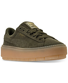 Puma Women's Suede Platform Rugged Casual Sneakers from Finish Line