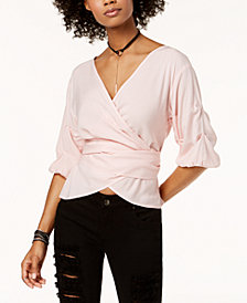 The Edit By Seventeen Juniors' Wrap Top, Created for Macy's