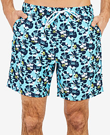 "Nautica Men's Abstract Poppy-Print 8"" Swimsuit"